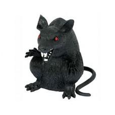 Крыса черная пластик 15см/A