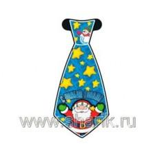 Галстук С НГ Дед Мороз 8шт/Д 68617
