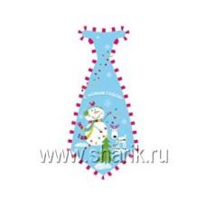 Галстук С НГ Снеговик Веселый 8шт/Д 68644