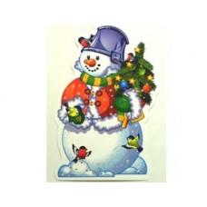 Баннер Снеговик с елочкой 41см/П 67842