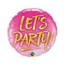 """П 18"""" LET'S PARTY на розовом"""