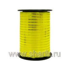 Лента с зол полосой 5ммХ230м желтая