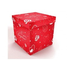 Коробка д/надутых шар 60см С ДР красная