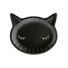 Тарелка бум Кошка черн 22см 6шт/PD