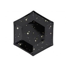 Тарелка Black&Gold Искры 20см 6шт/PD