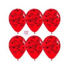 "S Шар 12"" Набросок сердец (015)паст 5ст"