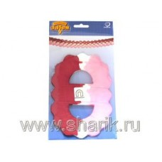 Гирлянда Декор 3,6м красно-бело-розовая 68060