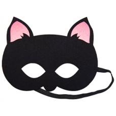 Маска Кошка черная фетр/G