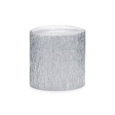 Лента креп бум серебряная 5смх10м 4шт/PD