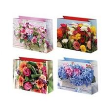 Пакет бум Цветы 23х18см