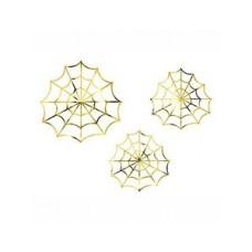 Фигура фольг Паутина золот 18-23см3шт/PD