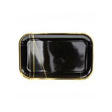 Тарелка Black&Gold Линии 13,5х22см6шт/PD