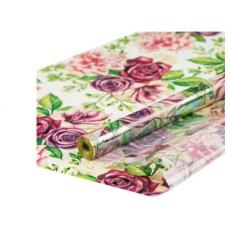 Пленка прозрачная Цветы 0,7х7,5м