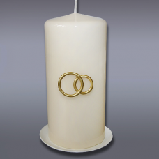Свеча пеньковая свадебная сл кость 2185
