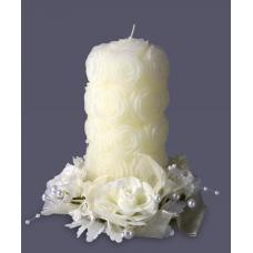 Свеча свадебная в розах Хамелеон 9084