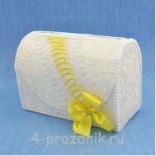 Сундук для сбора денег с желтым декором sbor049