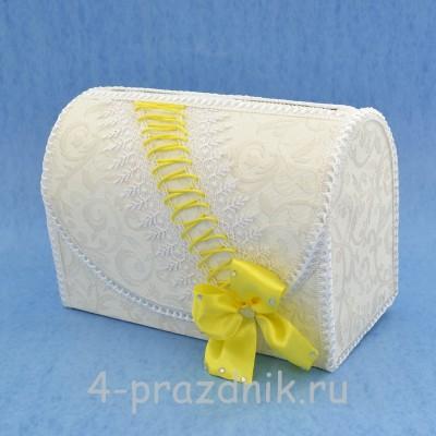 Сундук для сбора денег с желтым декором sbor049 оптом