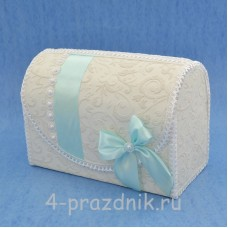 Сундук для сбора денег с декором цвета светлый Тиффани sbor050