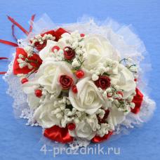 Букет дублёр невесты красно-белый bukn001