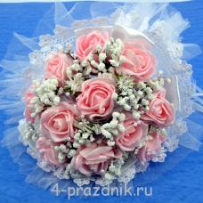 Букет дублёр невесты розовый bukn003