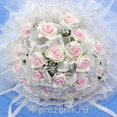 Букет дублёр невесты бело-розовый bukn006