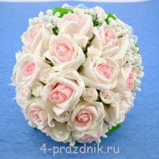 Букет дублёр невесты бело-розовый bukn010