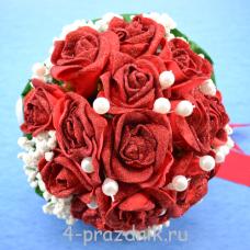 Букет дублёр невесты красный bukn011