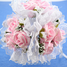 """Букет дублёр невесты """"тройной"""" розовый bukn012"""
