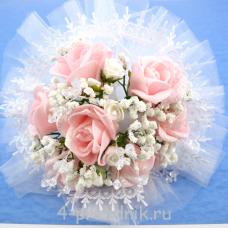 Букет дублёр невесты розовый bukn019