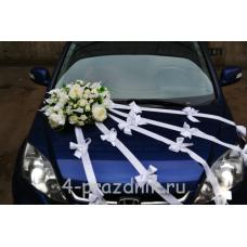 Свадебный Набор для автомобиля, белые цветы ukav339
