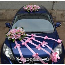 Свадебный Набор для автомобиля, розовые цветы ukav340