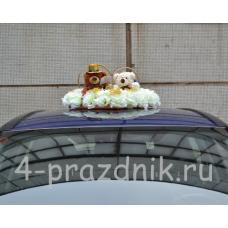 Украшение на авто Кольца на крышу с медвежатами ukav315