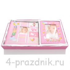 Фотоальбом + фоторамка новорожденной foto005