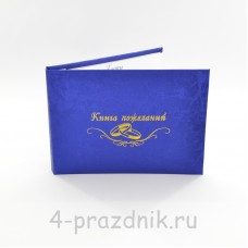 Книга пожеланий - паутинка синяя knip011