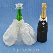 Свадебный набор для стола с подвязкой, букетом и подушкой для колец в белом исполнении svst002