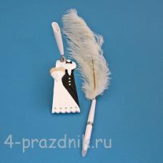 Ручка-перо на подставке Жених и невеста GL-102003