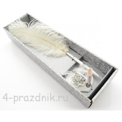 Ручка-перо на подставке Букет роз GL-123003 оптом