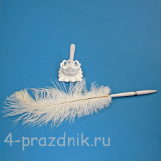 Ручка-перо на подставке Принцесса GL-151003