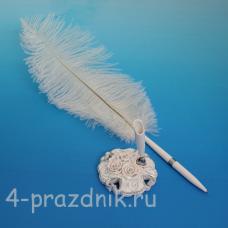 Ручка-перо на подставке Элегантная Роза GL-232003