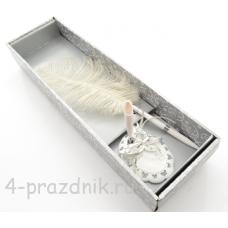 Ручка-перо на подставке  Бабочки GL-245003