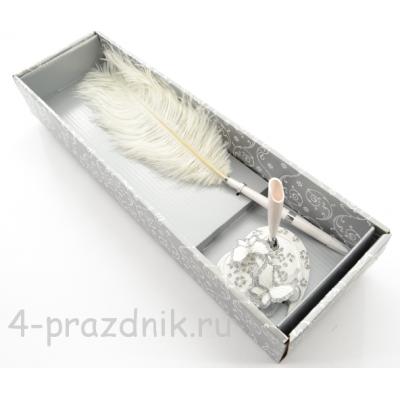 Ручка на подставке Две Бабочки GL-276003 оптом