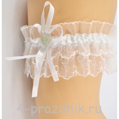 Подвязка белая pod001