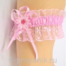 Подвязка розовая pod011