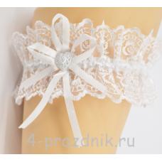 Подвязка белая pod015