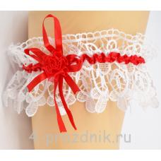 Подвязка  с красной лентой pod024