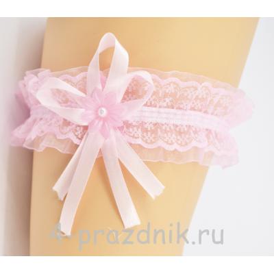 Подвязка розовая pod035