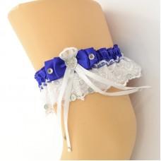 Подвязка сине-белая pod061
