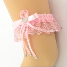 Подвязка  розовая pod065