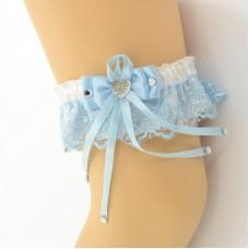 Подвязка бело-голубая pod070