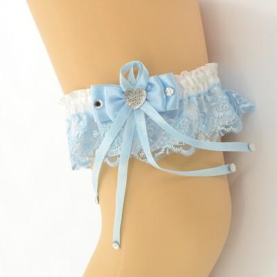 Подвязка бело-голубая pod070 оптом